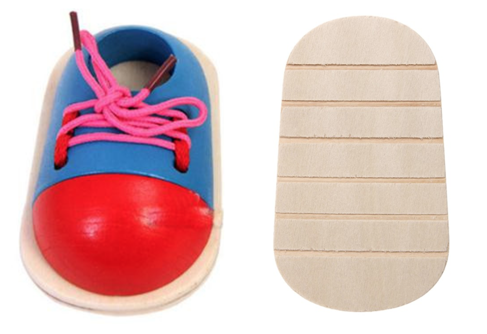 Arrière de la chaussure 3D